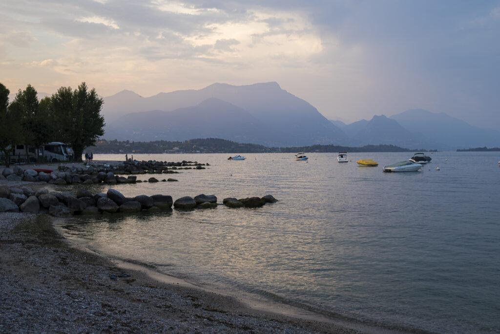 Spiaggia Romantica, Manerba del garda, Italy.